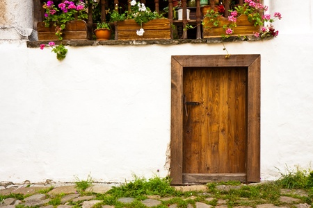 Old house door at the Rila Monastery in Bulgaria. Stock Photo - 14263489
