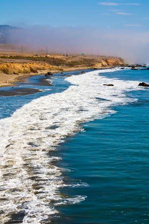 Fog over the California coastline near San Simeon. photo
