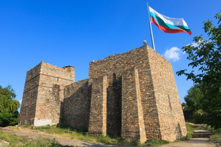 veliko: Back view of the Royal Palace in the Medieval capital of Bulgaria, Veliko Turnovo.