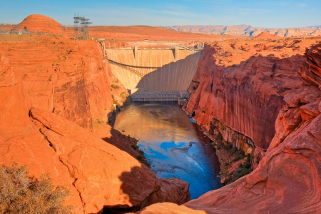 HDR image of the Lake Powell dam and the beginning of the Grand Canyon, Arizona. Stock Photo - 14534649