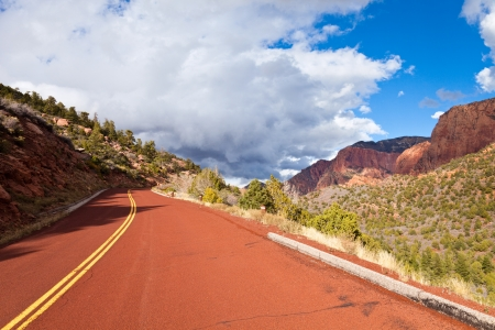 The Kolob Canyons scenic drive in Zion Canyon National Park, Utah. photo