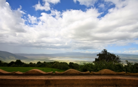 View from Ngorongoro Crater Lodge, Tanzania.