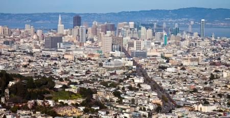 San Francisco panorama seen from Twin Peaks. photo