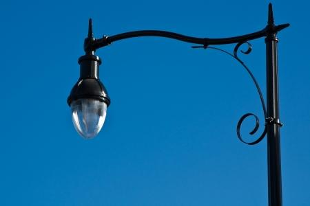 Ornate street lamp in San Francisco. photo