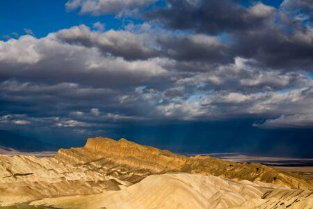 Rays of Sunlight over the Death Valley photo