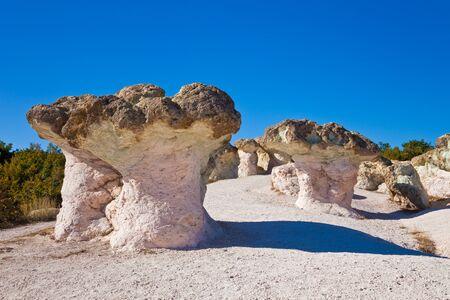 The Stone Mushrooms phenomenon near Kardjali, Bulgaria. Stock Photo