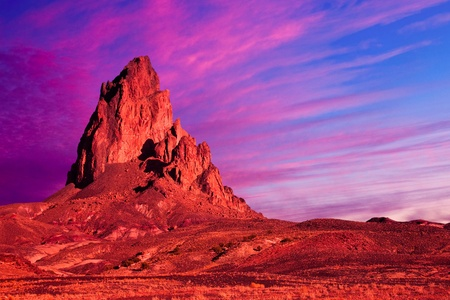 rock formation: Dramatic Rock Formation and Sky in Monument Valley.