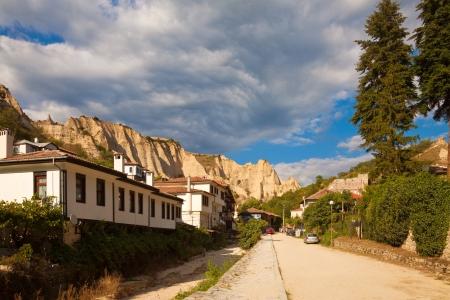 wine road: Dramatic landscape in the popular tourist destination Melnik, Bulgaria.