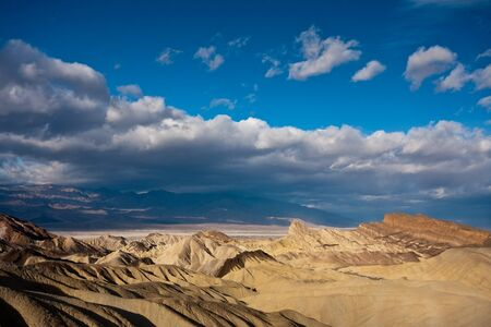 high desert: Badlands in Death Valley National Park, California
