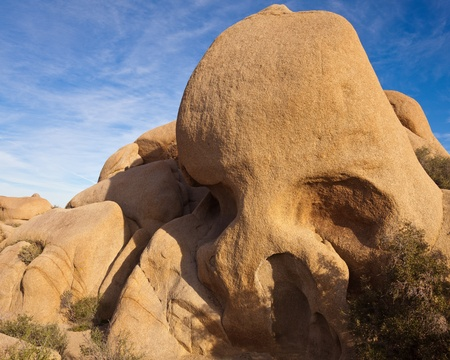 Skull Rock in Joshua Tree National Park, California. photo