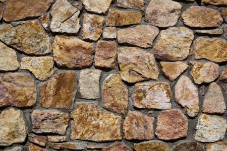 Stenen muur op de Genereal Patton Museum, Californië.