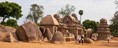 mahabalipuram: The Five Rathas archeological site in Mahabalipuram, India.