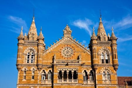terminus: Famous Victoria Terminus train station in Mumbai, India.
