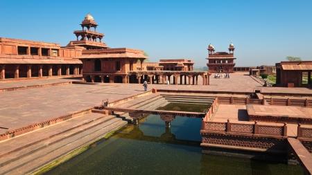 ユネスコの世界遺産サイト ファテープル · シークリー, インドのビュー。