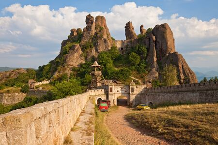 tradition: The main entrance to the famous Belogradchik fortress in Bulgaria.