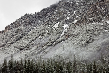 Beautiful winter landscape in Yosemite National Park, California. photo