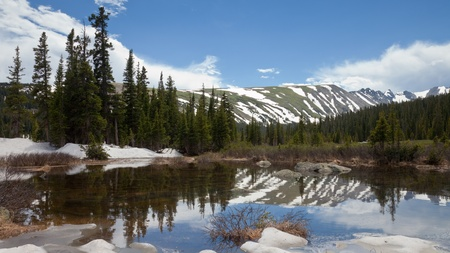 long lake: Early Summer at Long Lake in Indian Peaks Wilderness, Colorado.