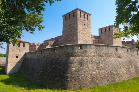 Side view of the medieval fortress Baba Vida in Vidin, Bulgaria. Stock Photo