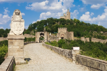 The main entrance to the fortress at Veliko Turnovo, Bulgaria. Stock Photo