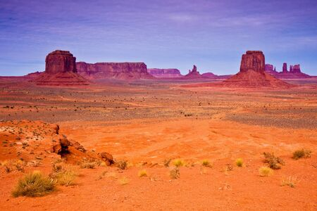 Landscape with buttes in Monument Valley Tribal Park,\ Arizona