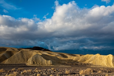 Badlands in Death Valley National Park, California. photo