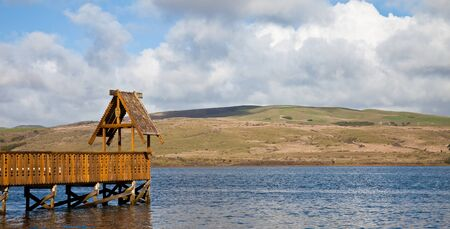 Pier in Tomales Bay at Inverness, California  Stock Photo