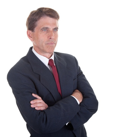 Attracive middle aged business man in a thoughtful pose  photo