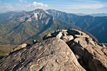 sequoia: View from Moro Rock in Sequoia National Park, California