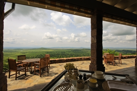blockh�tte: Breakfast at Sasakwa Lodge in Singita Grumeti Reserves in Tansania