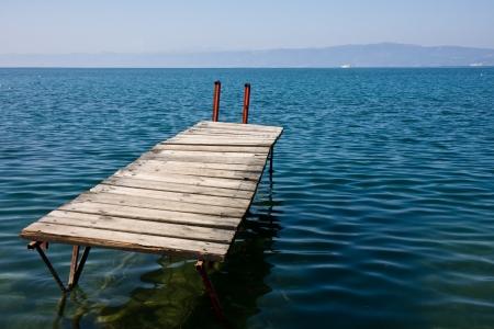 Old jetty in lake Ohrid, Macedonia.