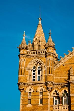 terminus: Terminus famosa estaci�n de tren Victoria en Mumbai, India