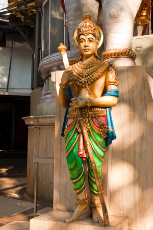 Statue in front of a Jain temple in Mumbai, India