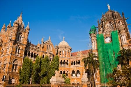 rennovation: Famous Victoria Terminus train station in Mumbai, India.