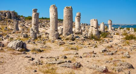 Panoramic view of the Upright Stones natural phenomenon near Varna, Bulgaria. Stock Photo - 15332389