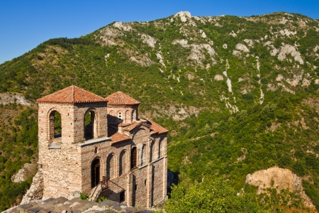 St. Mary of Petrich church at the Asenova Krepost site near Asenovgrad, Bulgaria.