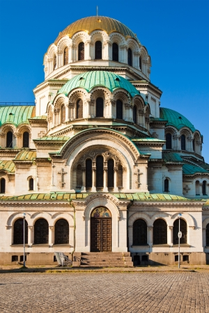 nevsky: Side view of the Alexander Nevsky Cathedral in Sofia, Bulgaria. Stock Photo
