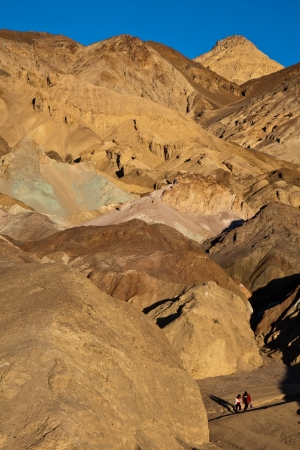 foothill: View of Artist Palette and tourists at Death Valley National Park, California