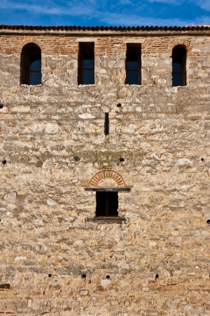 Small windows on the walls of Baba Vida fortress in Vidin, Bulgaria. Stock Photo - 15389702