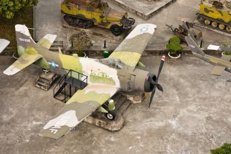 nam: Captured US plane at the Army Museum in Hanoi, Vietnam. Editorial