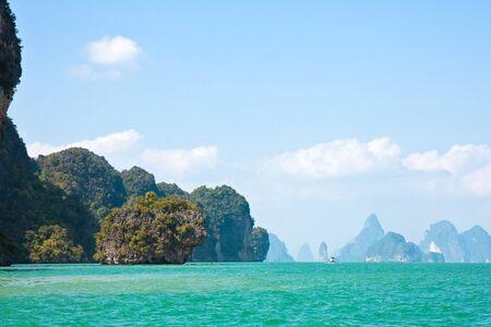 Phang Nga bay in the Andaman Sea, Thailand.