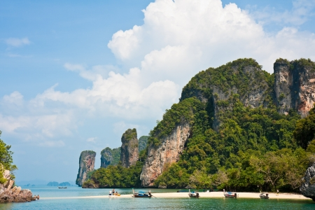 Secluded beach on a small tropical island in the Andaman Sea, Thailand.
