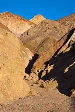 foothill: Artists Palette trail in Death Valley National Park, California. Stock Photo