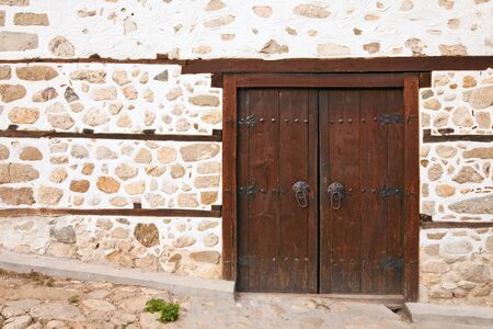 tradition: Old door at the 19th century Kordopulova House in Melnik, Bulgaria.