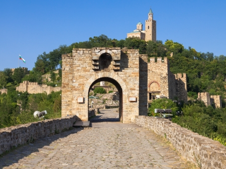 The gate to the medieval Tsarevets Fortress, Bulgaria.