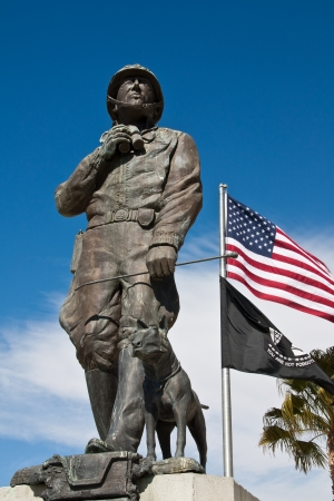 canid: Statue at the General Patton Museum, California.