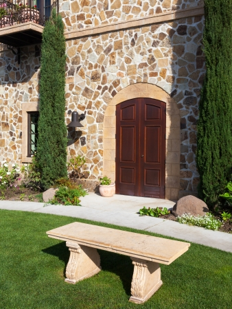 Beautiful entrance to a Napa Valley winery. Stock Photo - 16943622