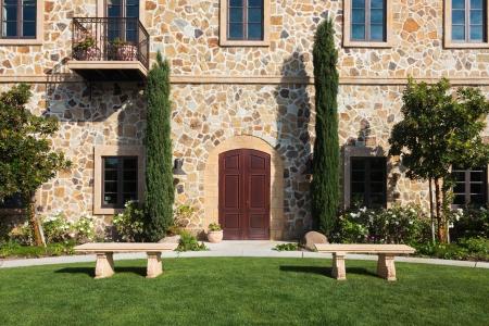 napa: Rustic mansion in Napa Valley, California.