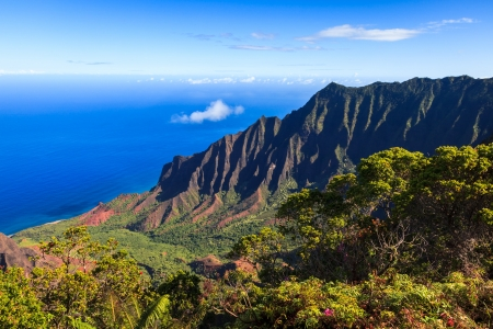 sunshine state: Amazing view of the Kalalau Valley and the Na Pali coast in Kauai.