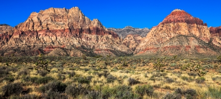 Panoramic view of Red Rock Canyon Conservation Area, Nevada  photo