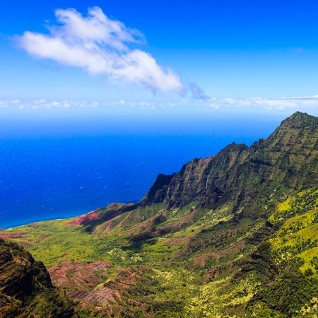 Hermoso Valle de Kalalau en Kauai, Islas de Hawai Foto de archivo - 23131030